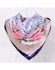 W nowym stylu skóra węża kwadratowe chustki okłady drukowane gorąca sprzedaż kobiet różowy niebieski jedwab szal szal Unisex muz
