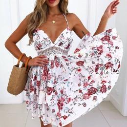 2020 Sexy koronkowa sukienka plażowa panie strój kąpielowy Bikini Cover Up tuniki plaża kostiumy kąpielowe stroje kąpielowe Cove