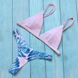 Riseado nowy brazylijski Bikini Set seksowne stringi stroje kąpielowe kobiety pasek strój kąpielowy biquini kostiumy kąpielowe k