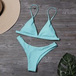 Lefeel stałe brazylijskie stroje kąpielowe kobiety mikro Bikini nowy niski stan Bikini Set Sexy strój kąpielowy letni strój kąpi