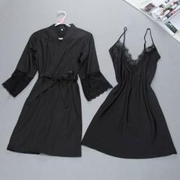 Marka fiklyc seksowna damska szata i suknia ustawia twinst szlafrok + mini sukienka wieczorowa dwa kawałki bielizna nocna damska