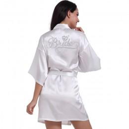 Srebrne pisanie ślubne szaty ślubne panna młoda druhna Maid of Honor kobiety szata na imprezę kwiatowe wesele prezenty przygotuj