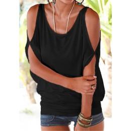 Kobiety bluzki 2019 lato na co dzień Sexy Off ramię bluzka koszula Batwing krótki rękaw koronki up solidna O-neck luźne topy Blu