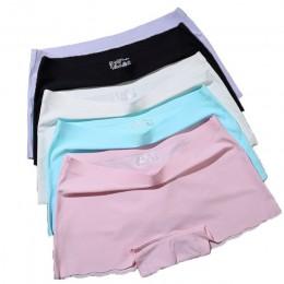 ERAEYE 4 części/partia damskie krótkie spodnie bezpieczeństwa damskie figi bielizna fioletowa kobieta komfort majtki kobieta bez