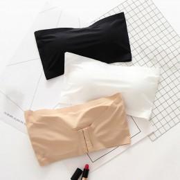 Kobiety zakrętka tubki bez ramiączek Push Up krótkie bluzki damskie biustonosz bezszwowy seksowna bielizna bez ramiączek Bandeau