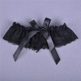 1pc kobiety dziewczyna seksowna koronkowa kwiatowa kokarda wesele Bridal bielizna podwiązka na nogę pas pończoch