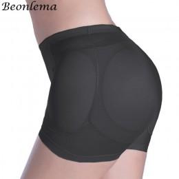 Beonlema Sexy kobiety 4 sztuk klocki wzmacniające fałszywe Ass unoszące pośladki czopiarki kontroli majtki wymienny wyściełana b