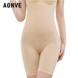 Aonve brzuch wyszczuplający modelujący wysokiej talii modelujący pasek majtki kobiety Butt Lifter czopiarki Plus Size bielizna d