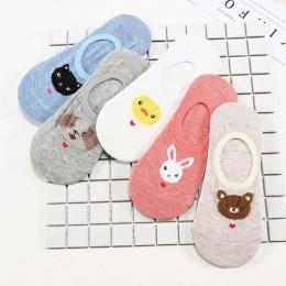 28 styl 10 sztuka  5 par/partia śliczne Harajuku skarpetki w zwierzątka kobiety lato koreański kot niedźwiedź królik śmieszne g