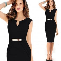Moda sukienka kobiety letnie sukienki damskie Casual urząd Lady czarna dziewczyna elegancka sukienka Vestidos 2019 ubrania