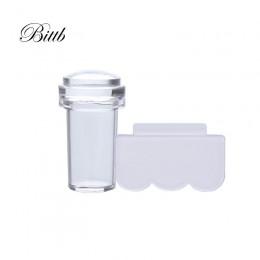 Bittb Nail Art Stamper Set Pure Clear Jelly silikonowa płytka do stemplowania skrobak przezroczysty stempel do paznokci narzędzi