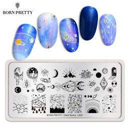 BORN PRETTY kosmos płytka do stemplowania paznokci gwiazda obraz prostokąt malowanie płyty pieczątka na paznokcie szablon