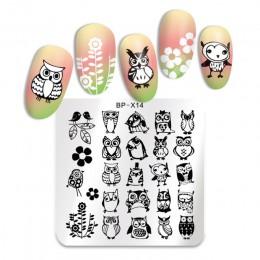 BORN PRETTY Animal Series pieczątka na paznokcie szablon tłoczenia sowa kompozycja z kwiatów płytka z obrazkiem wzornik
