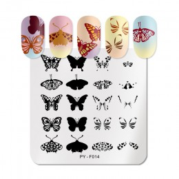 PICT YOU wzory w motylki płytka do stemplowania paznokci s zwierząt jesień płytka do stemplowania szablony szablony ze stali nie