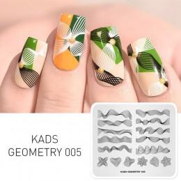 KADS szablon do stemplowania geometria 005 obraz 3D projekt paznokci szablon do stemplowania szablon do paznokci paznokcie narzę