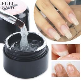 Full Beauty fibre Extension Repair Gel Clear Poly Builder na przedłużenie paznokci naprawa akrylowa zepsute formy do paznokci że