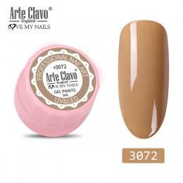 Arte Clavo 5ml kolor żel farba żelowy lakier do paznokci uv Soak Off lakier do paznokci Nail Art 72 kolory Glitter Nail Rainbow