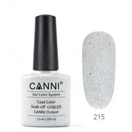 CANNI żel UV lakier 7.3ml francuski kolor 215-258 połysk perłowy błyszczące błyszczące cekiny led UV lampa do paznokci żelowy la