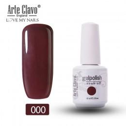 Arte Clavo LED usuwanie żelowych paznokieci polski 15ml UV żel hybrydowy Lak czerwone kolory seria DIY Nail artystyczny Manicure