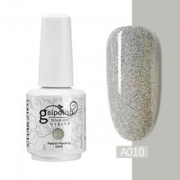ROHWXY 15ml żelowy lakier do paznokci błyszczące cekiny LED UV lakier do paznokci lakier do paznokci usuwanie lakieru żelowego ż