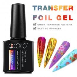Folie transferowe żelowy lakier do paznokci kolor metalu lakier Soak off UV LED lakier żelowy salon paznokci dekoracja paznokci