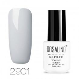 ROSALIND żel lakier hybrydowy żel do malowania paznokci podkład warstwa wierzchnia Vernis Semi Permanent Soak off UV biała butel
