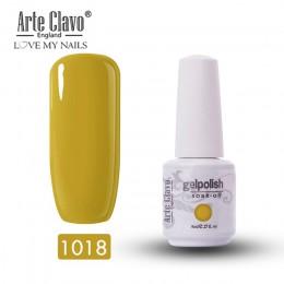 8ml Arte Clavo żel do paznokci lakier hybrydowy UV LED półtrwały lakier do paznokci niebieski kolory Soak Off żel lakier do pazn
