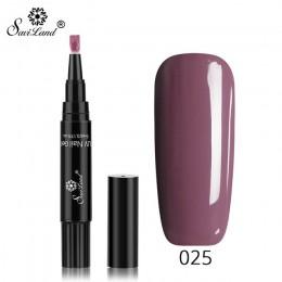 Saviland nowy 60 kolorowe paznokcie ołówek do polerowania 3 w 1 żelowy lakier do paznokci Pen Glitter One Step żel do paznokci ł