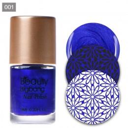 BeautyBigBang 9ml tłoczenie lakiery do paznokci lakier do druku lakier do warstwa zdobiąca paznokcie brązowy czarny lakier do pa