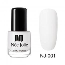 NEE JOLIE 3.5ml lakier do paznokci efekt matujący różowy biały żółty kolorowy lakier do paznokci Art tłustej polski do paznokci