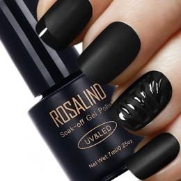ROSALIND 7ML czarna butelka matowa warstwa wierzchnia żelowy lakier do paznokci UV Nail Art żelowy lakier do paznokci UV LED Soa