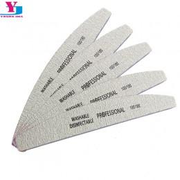 5 sztuk/partia pilnik do paznokci 100/180 szlifowanie blok buforowy Pedicure Manicure polerowanie polskie przybory kosmetyczne p
