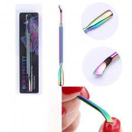 BORN PRETTY cążki do skórek ze stali nierdzewnej Rainbow pinceta Clipper martwa skóra Remover Scissor Plier Pusher Tool