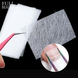 10 sztuk jedwabiu z włókna szklanego na przedłużenie paznokci formularz włókniny jedwabie żel UV włókno budowlane francuski akry