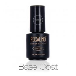 Rosalind Nail płaszcz podstawowy 7ml Shiny Sealer Manicure Soak Off UV Top baza długotrwałe paznokcie podkładowe lakiery żelowe