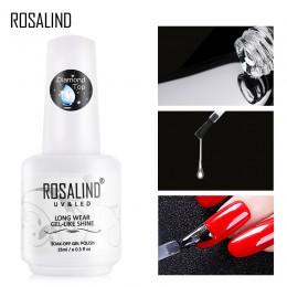 ROSALIND warstwa wierzchnia żelowy lakier do paznokci diamentowy przezroczysty Soak Off UV Primer Gel Vernis 15ml trwały lakier