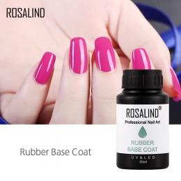 ROSALIND podkład do paznokci gumowe 30 ml new Arrival podkład Vernis Semi Permanent do paznokci projekt UV Manicure wyleczyć baz