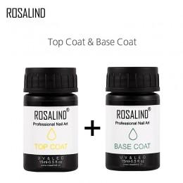 ROSALIND 15ml wielofunkcyjny Top & Base płaszcz dla UV do paznokci Art długotrwały ochrony żel do Manicure paznokci polerowania