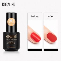 ROSALIND gumowa matowa warstwa wierzchnia matowy lakier do paznokci Vernis Semi Permanant lampa UV do Manicure bez wycierania dł