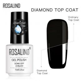 ROSALIND żel polski diament warstwa wierzchnia lampa UV żel Soak Off wzmocnienia 7ml długotrwały lakier do paznokci artystyczny