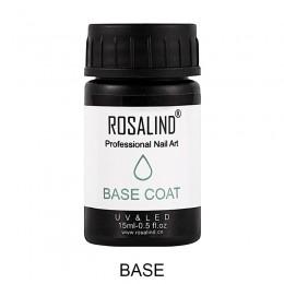 Do paznokci ROSALIND Art 15ml baza płaszcz wysokiej jakości podkład do paznokci Soak-off UV do paznokci projekt Vernis Semi stał