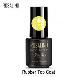 ROSALIND 7 ml żel Top Coat lakier do paznokci do malowania paznokci utrzymać Manicure do paznokci długotrwały Vernis przezroczys