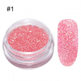 1 g/pudło Holo brokat do paznokci Gradient do lakier żelowy uv Nails dekoracje Sugar Glitter zanurzenie Nail Art
