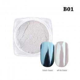 Nowe mody 1Box Gradient błyszczący brokat do paznokci pył magia lustrzany efekt w proszku DIY dekoracji narzędzia do ścieranie k