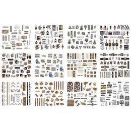 12 sztuk naklejki do paznokci Leopard serii kalkomanie transferowe wody zestaw suwak tatuaż folia uroda DIY paznokci dekoracje a