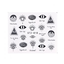 1pc Eye Series Transfer wody suwak do paznokci dekoracje artystyczne urocze naklejki Nail Manicure tatuaże folia naklejki CHSTZ8