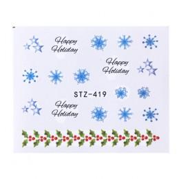 1 arkusz woda naklejka do paznokci boże narodzenie projekt tymczasowe tatuaże ełk/śnieg kwiaty/wzór sowy Transfer piękno Nail Ar