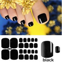 1 arkusz Glitter paznokieć Art polski naklejki tipsy pilnik do paznokci czysty kolor klej okłady Manicure naklejka paski Drop Sh
