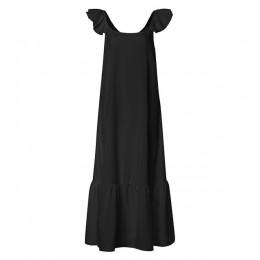 2019 Celmia letnia sukienka kobiety Sexy z krótkim rękawem potargane Maxi długa sukienka dorywczo luźna jednolita plisowana plaż