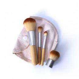 O.TWO.O 4 sztuk/partia pędzel bambusowy pędzel do podkładu pędzle do makijażu kosmetyczne puder do twarzy pędzel do makijażu prz